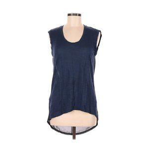 BCBGMAXAZRIA Sleeveless Top Blue Black Shimmer M